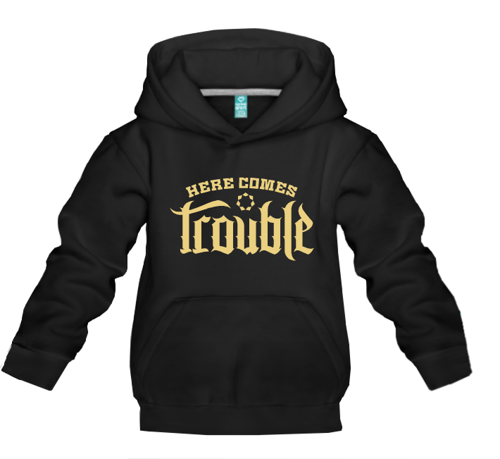 Kinder Hoodie Here Comes Trouble